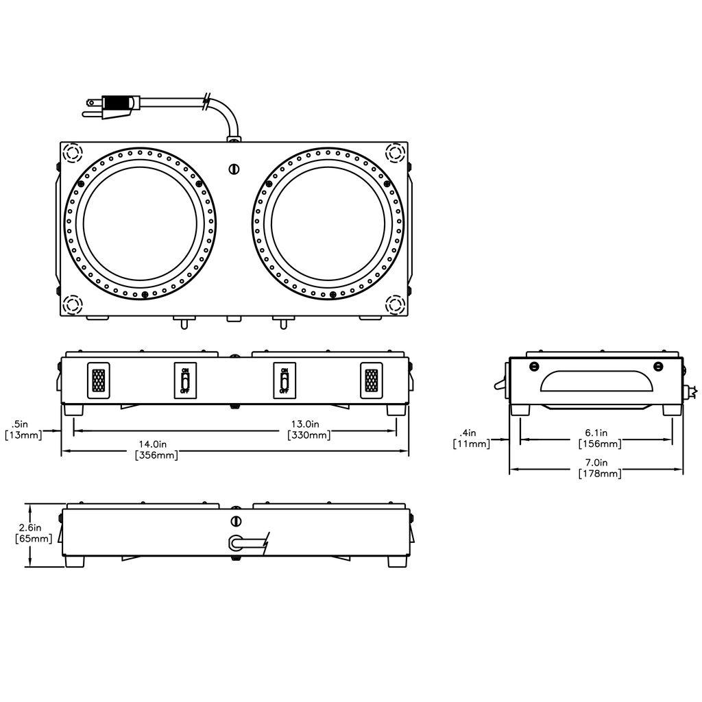 Bunn WX2 Warmer 2 Position Side-by-Side Coffee Warmer