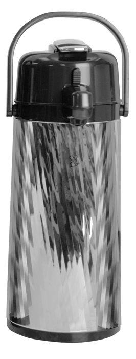 Newco 2.2L KK Airpot, Diagonal Pattern, Lever Pump, Glass Lined