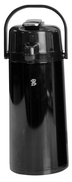 Newco 2.2L KK Airpot, Black Metal, Push Button Pump, Glass Lined