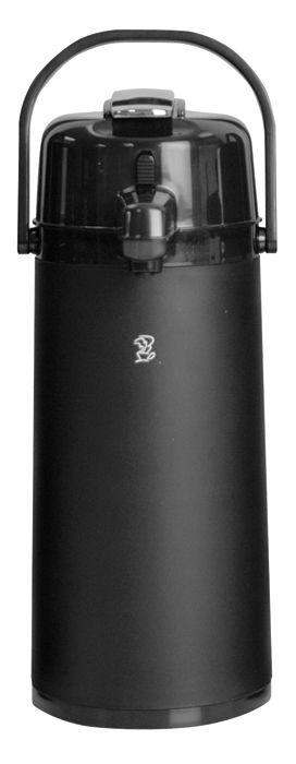 Newco 2.2L KK Airpot, Black Plastic, Push Button Pump, Glass Lined