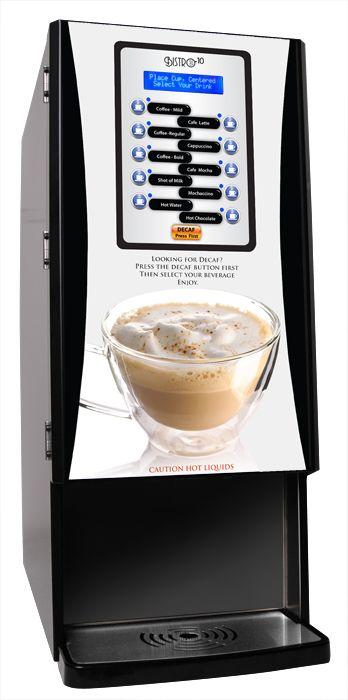 Newco Bistro 10-T Liquid Coffee Specialty Drink Machine, BIB Plus Powders, Latte / Cappuccino / Mocha/ Hot Chocolate, Tall