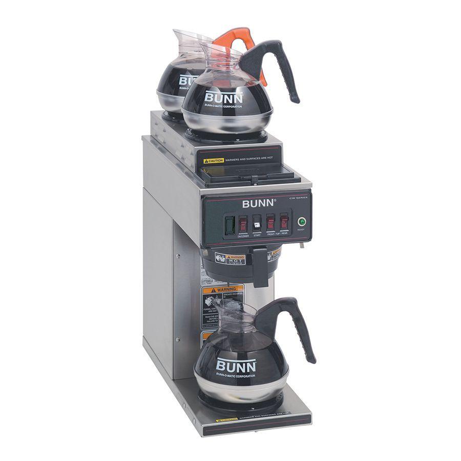 Bunn CWT15-3 (2U/1LWarmer) 12 Cup Automatic Coffee Brewer with 1 Warmer