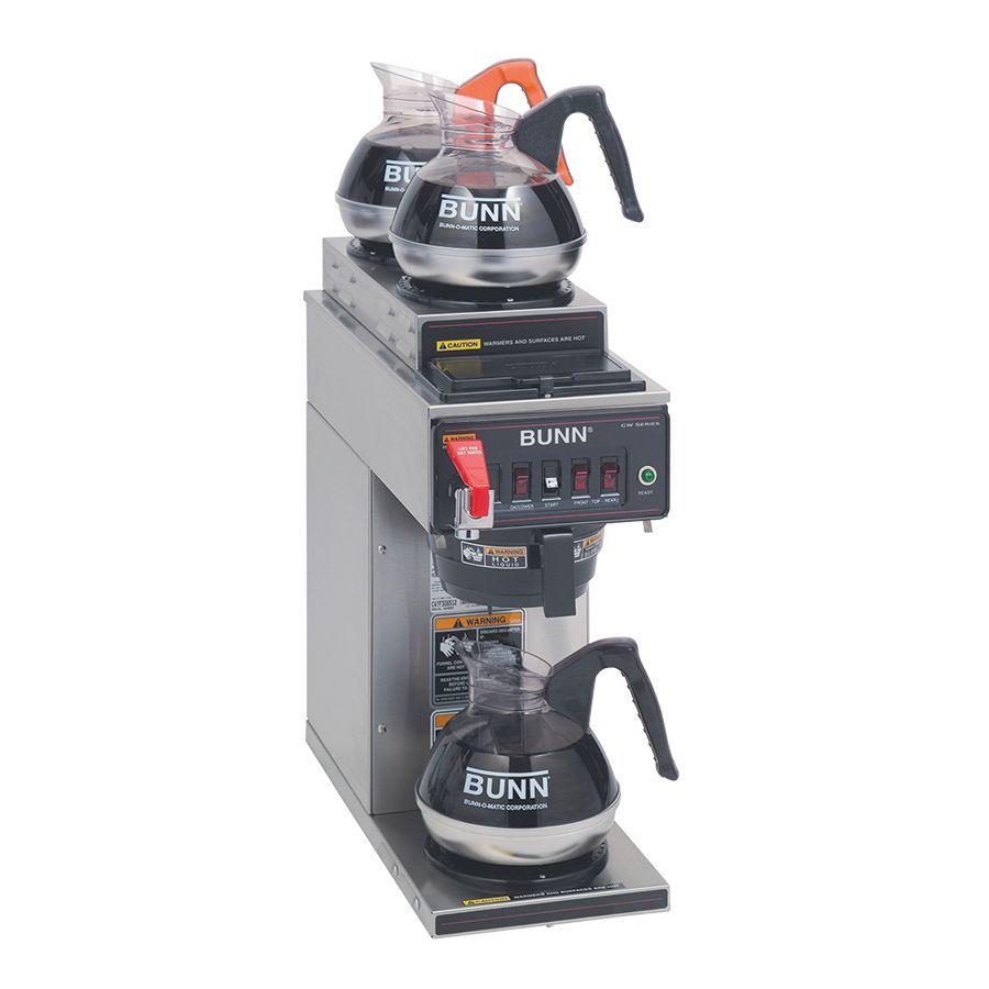 Bunn CWTF-DV-3 (2U/1LWarmer) 12 Cup Dual Volt Automatic Coffee Brewer with 3 Warmers