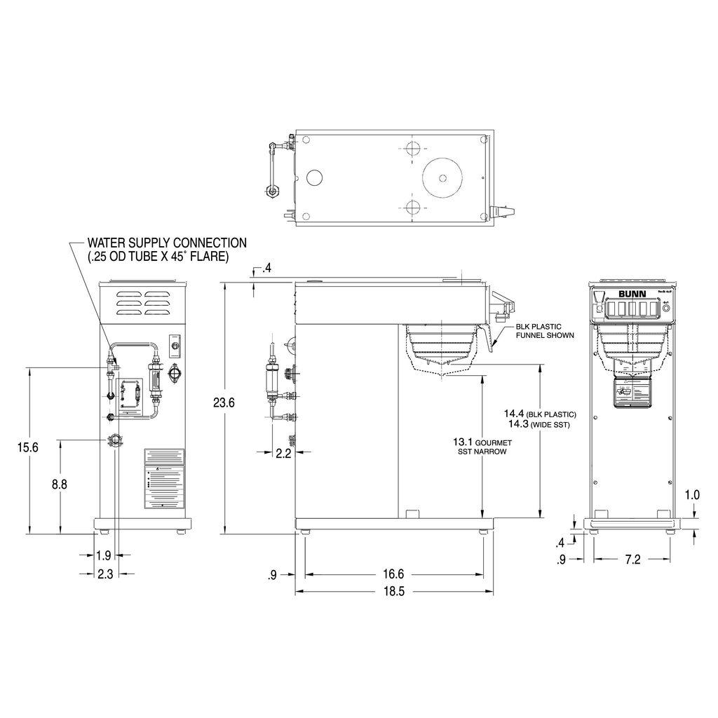 Bunn CWTF-DV-APS Dual-Voltage Airpot Coffee Brewer