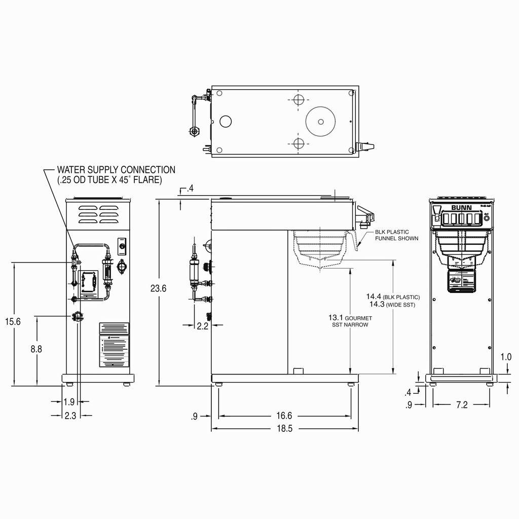 Bunn CW15-APS Airpot Dispensed Coffee Brewer