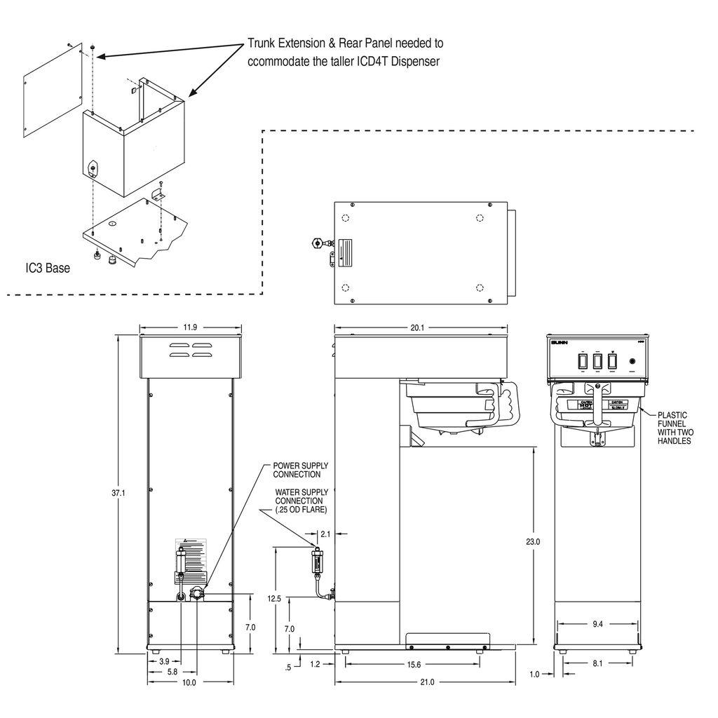 Bunn IC3 3Gal (11.4L) Iced Coffee Brewer
