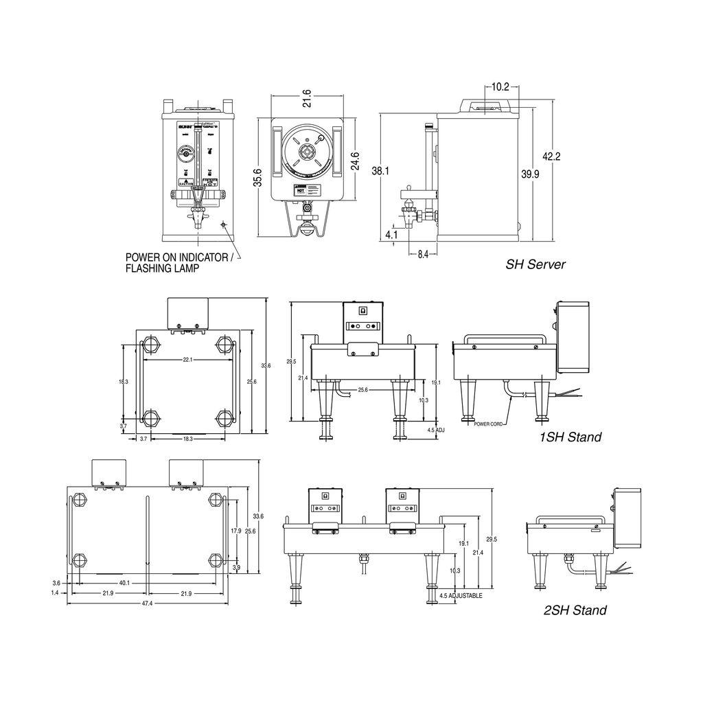 Bunn 1.5Gal(5.7L) Stainless Steel SH Soft Heat® Portable Server