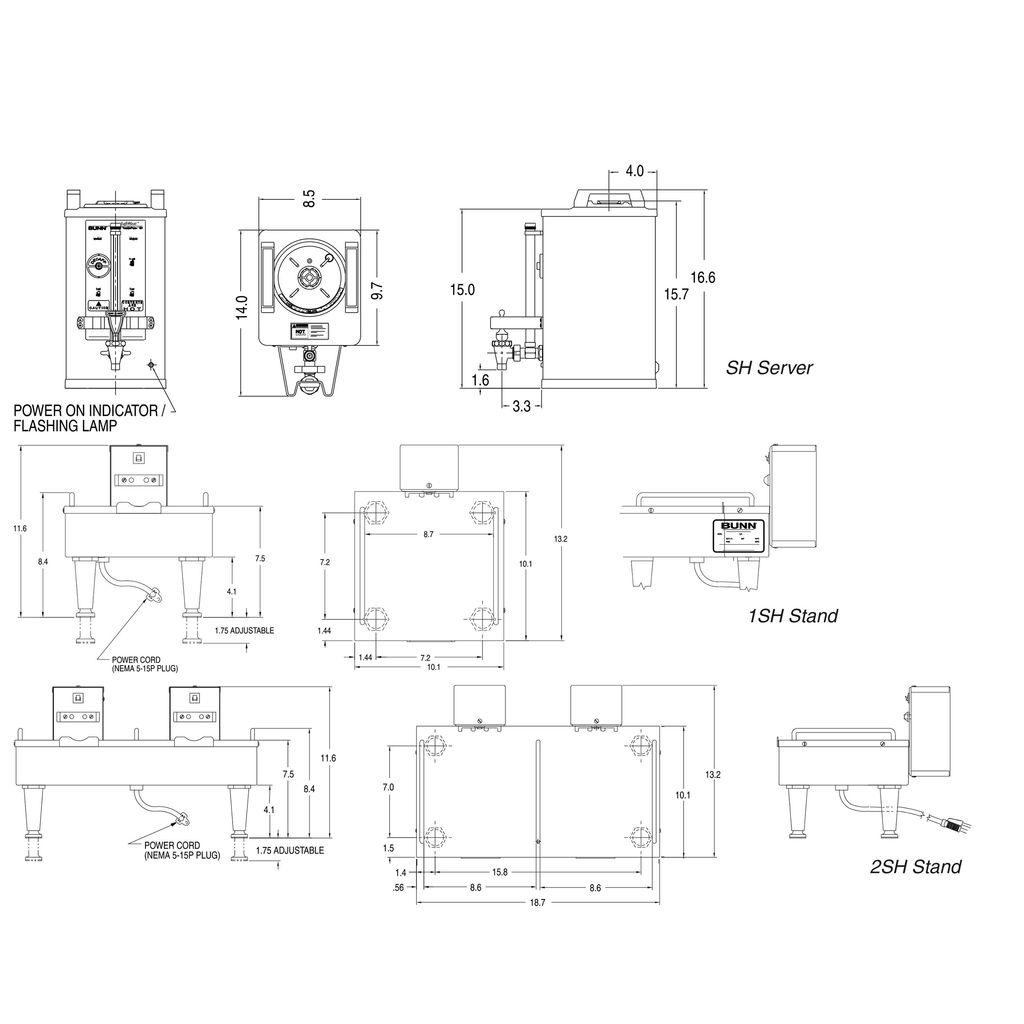 Bunn 1.5Gal(5.7L) Black 60MIN SH Soft Heat® Portable Server