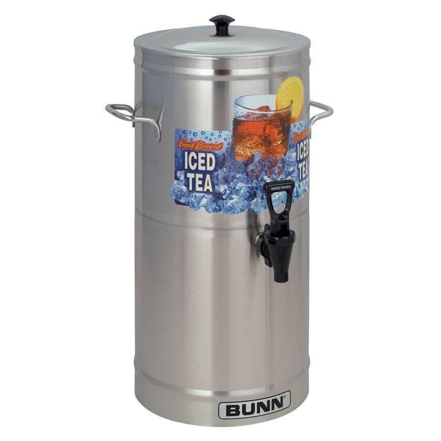 Bunn TDS-3 Dispenser w/Solid Lid 3Gal (11.4L) Cylinder Style Iced Tea & Coffee Dispenser