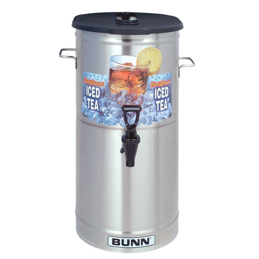 Bunn TDO-4 Dispenser w/Brew-Thru Lid 4Gal (15.1L) Square Style Iced Tea & Coffee Disp w/Brew-Thru Lid