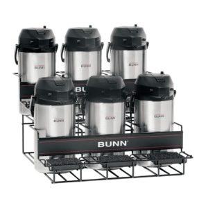 Bunn UNIV-6 APR Universal Airpot Rack Holds Up To 6 Portable Airpots