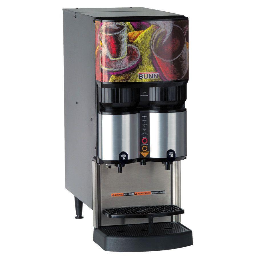 Bunn LCA-2 PC (w/LiquiBox QC/DII) Low Profile 2 Product Liquid Coffee Ambient Disp w/Portion Control