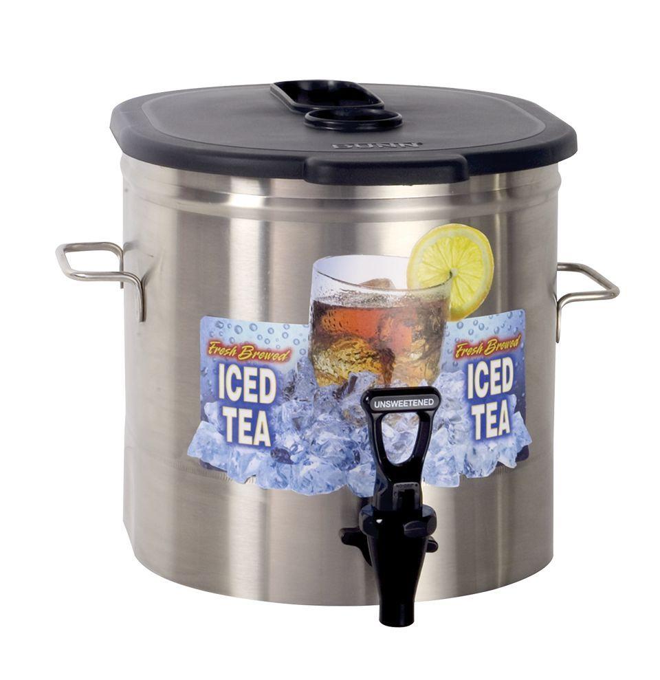 Bunn TDO-3.5 LP Low Profile Dispenser 3.5Gal (13.2L) Cylinder Style Iced Tea/Coffee Disp w/Brew-Thru Lid