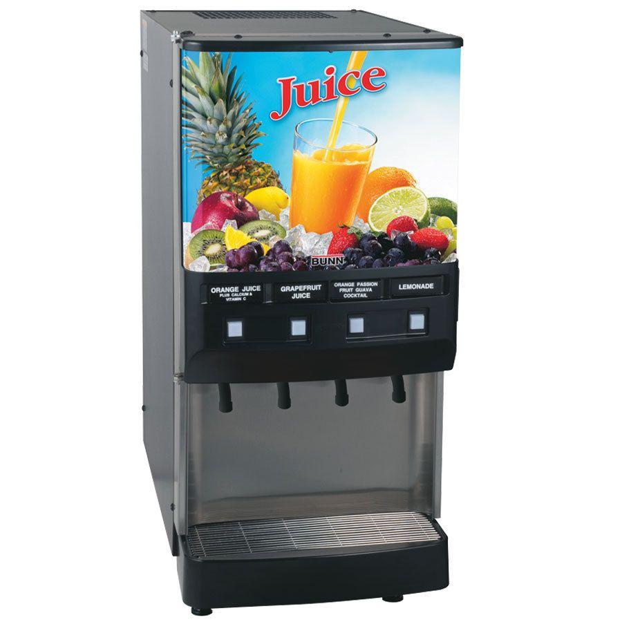 Bunn JDF-4S Silver Series® 4-Flavor Cold Beverage System