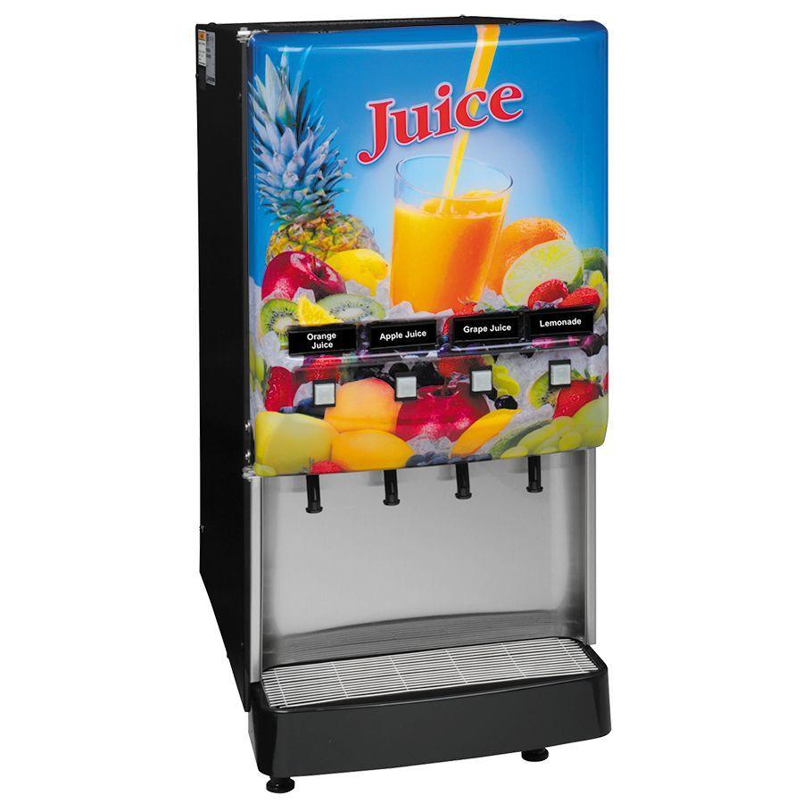 Bunn JDF-4S Lit Door Silver Series® 4-Flavor Cold Bev System w/LED Lighted Graphics