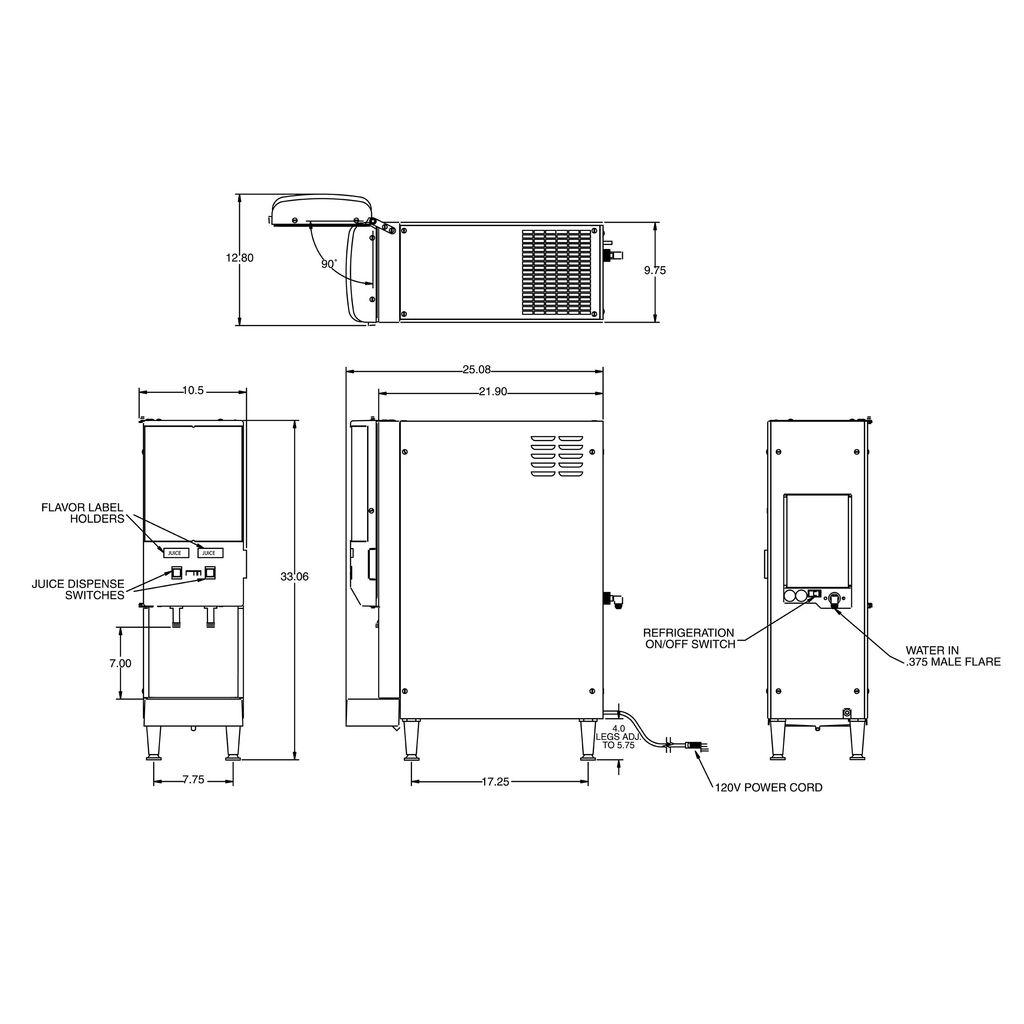 Bunn JDF-2S Silver Series® 2-Flavor Cold Beverage System