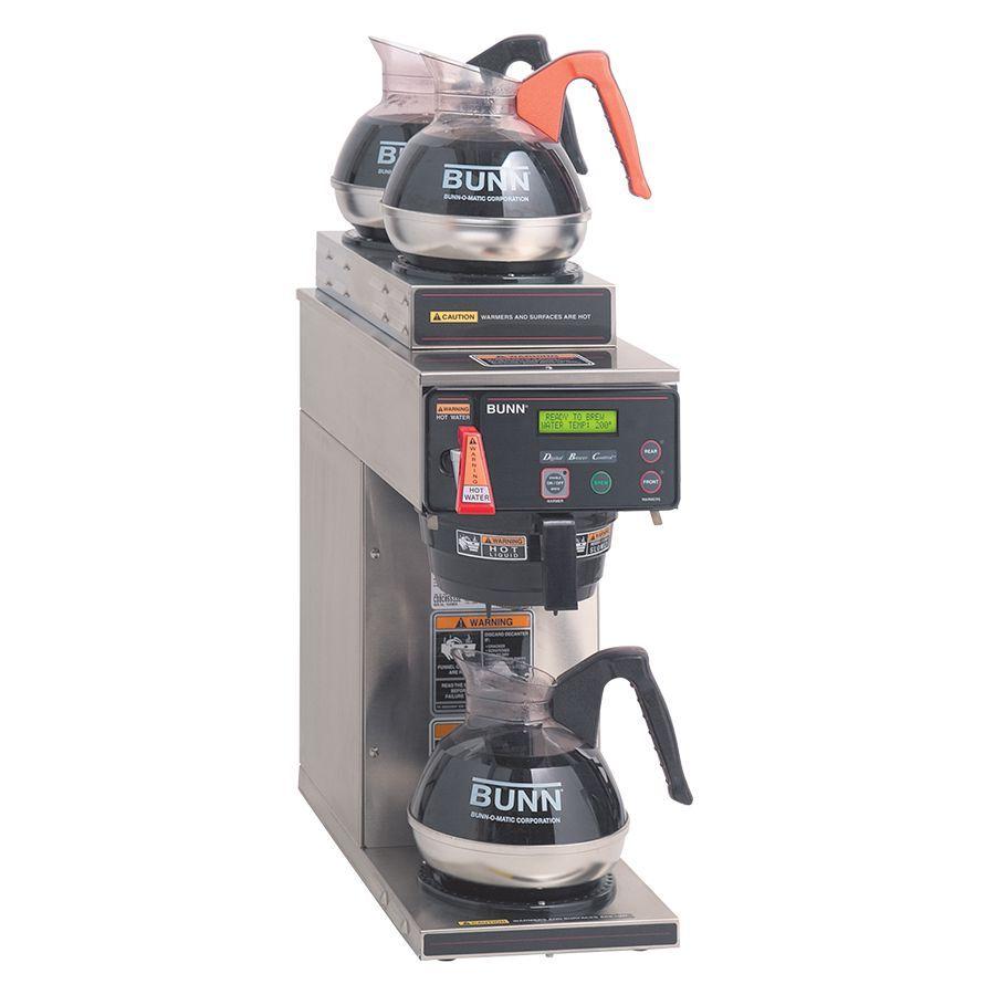 Bunn AXIOM-DV-3 (2U/1LWarmer) AXIOM® 12 Cup Dual-Voltage Coffee Brewer with 3 Warmers