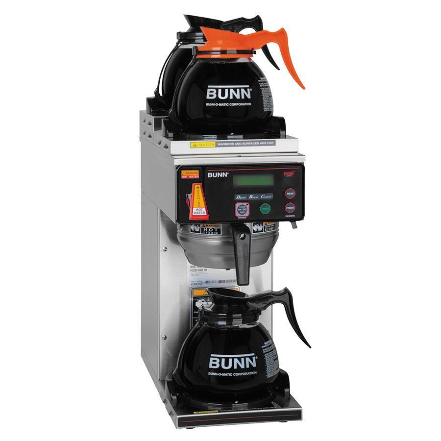 Bunn AXIOM-DV-3 RFID (2U/1LWarmer) AXIOM® BrewWISE® 12 Cup Dual-Volt Coffee Brewer with 3 Warmers