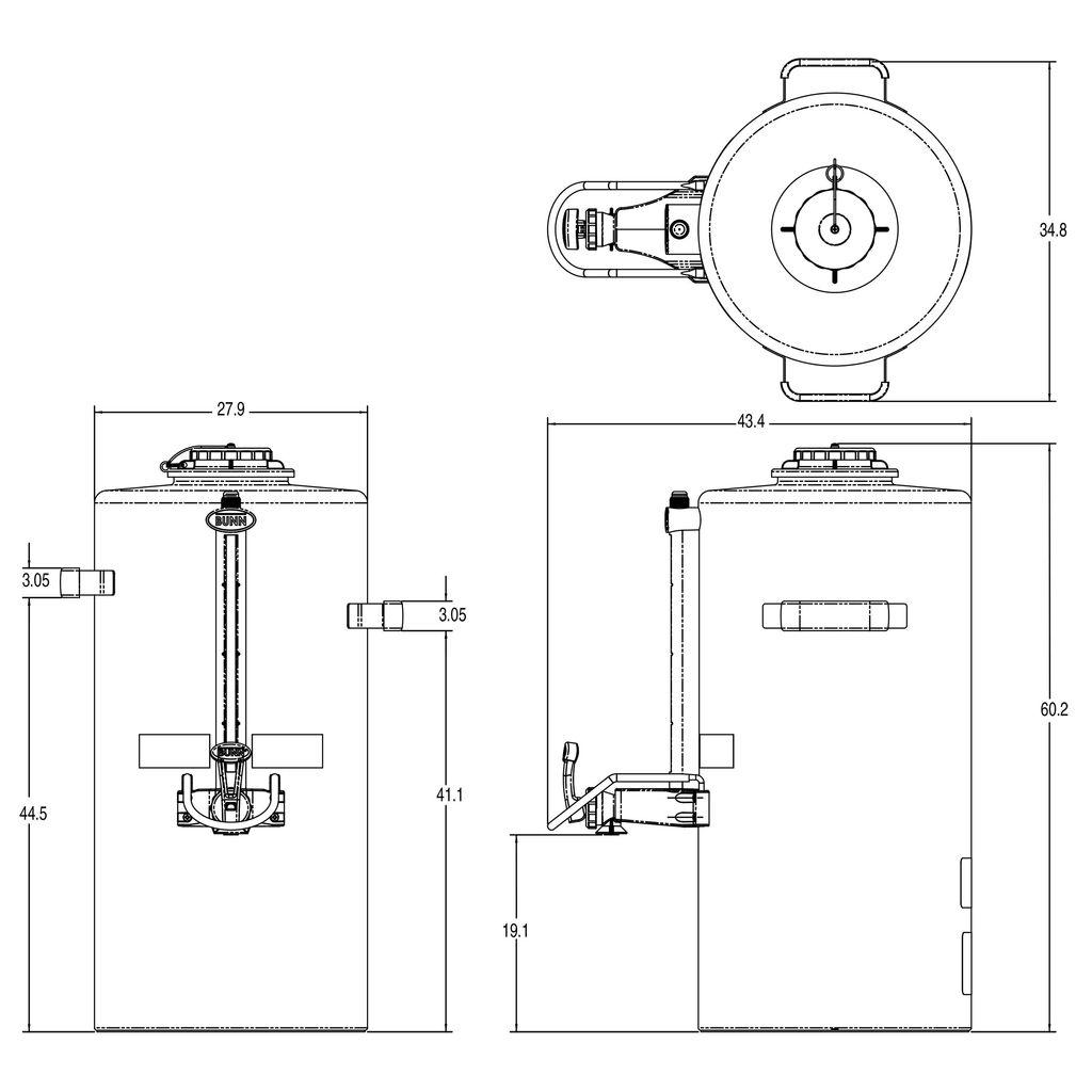 Bunn 3Gal (11.4L) Titan® TF ThermoFresh® Server