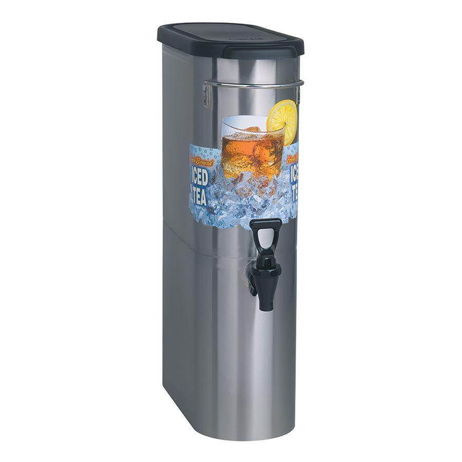 Bunn TDO-N-3.5 Dispenser w/Solid Lid 3.5Gal (13.2L) Oval Style Narrow Iced Tea & Coffee Disp