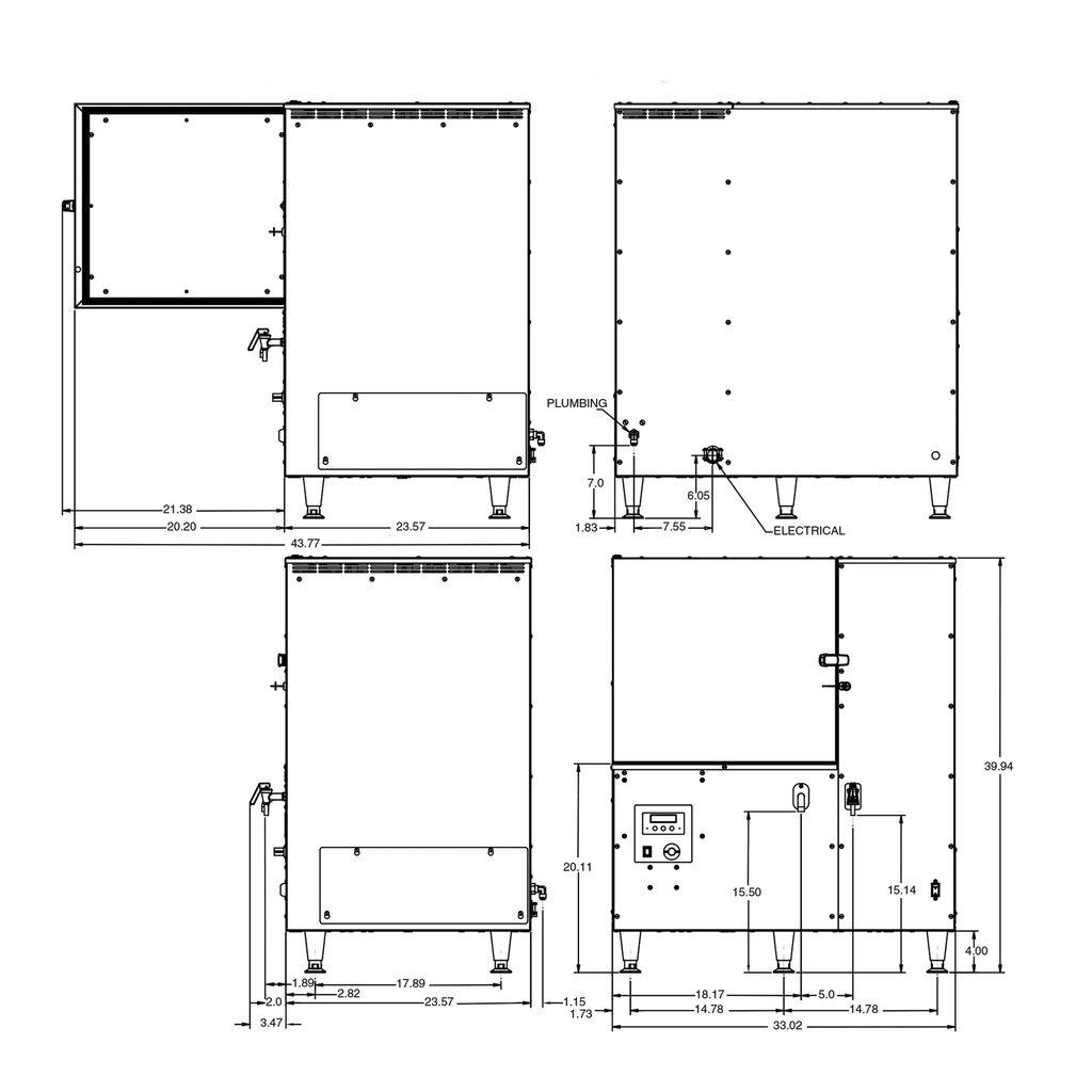 Bunn LCR-3 DBC HV (w/ Scholle QC) High Volume DBC® Liquid Coffee Refrigerated Dispenser