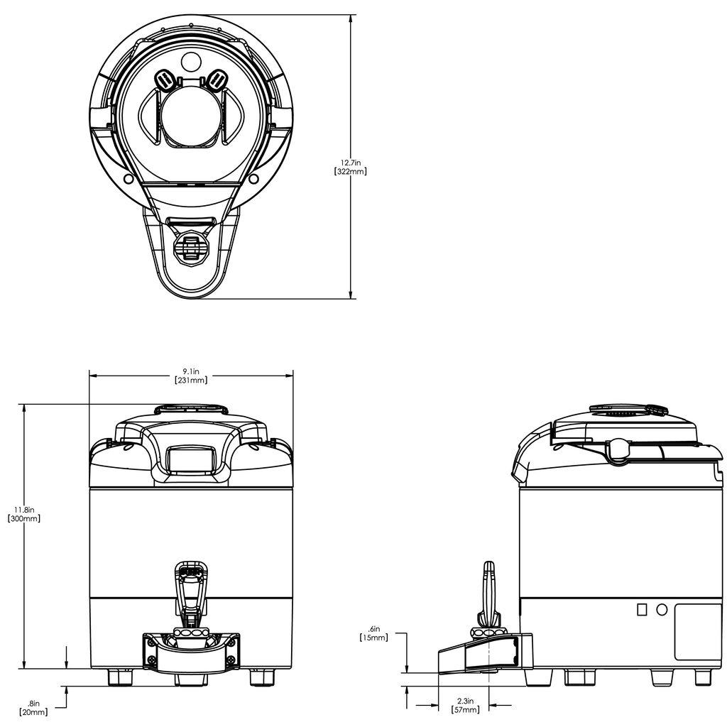 Bunn DSG 1Gal (3.8L) ThermoFresh® Digital Sight Gauge Portable Server w/o Base Black