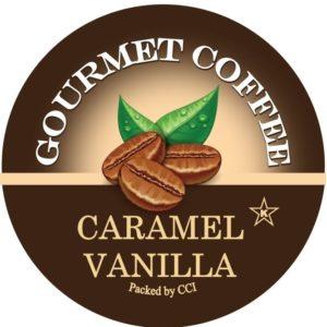 Corim Caramel Vanilla Flavored Coffee Single Serve Kups, Case Of 96