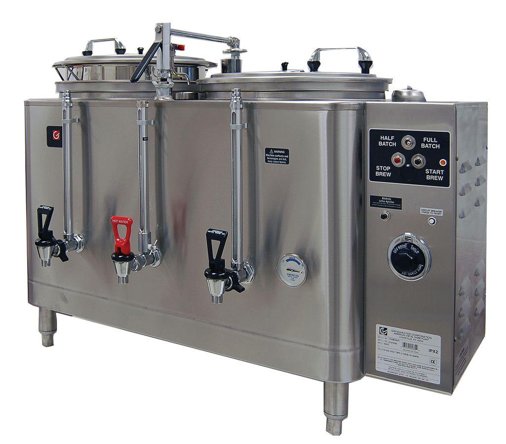 Grindmaster 7446E Twin 6 Gallon Midline Heat Exchange Urn Coffee Brewer