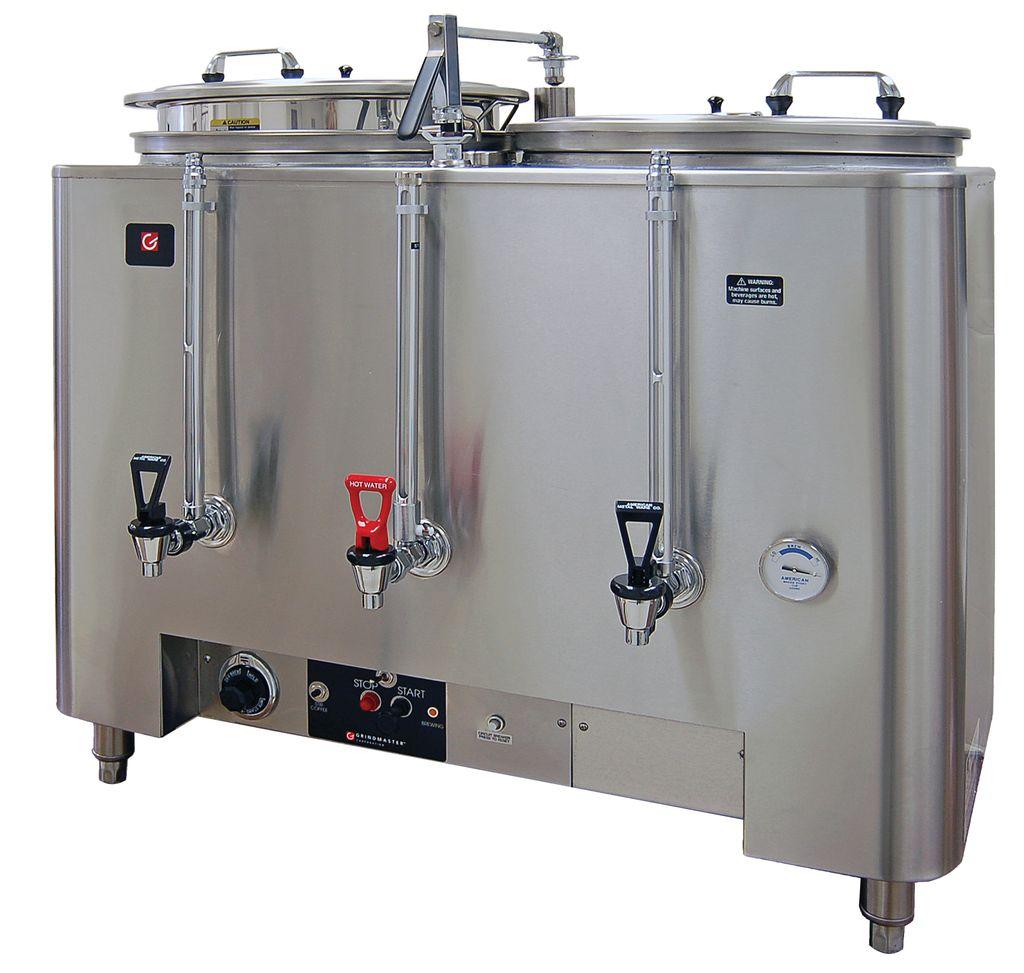 Grindmaster 81010E Twin 10 Gallon Space Saver Urn Coffee Brewer
