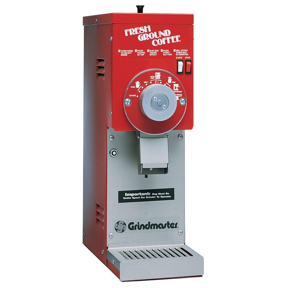 Grindmaster 875S Bulk Coffee Grinder, 3 Pound Hopper, Red