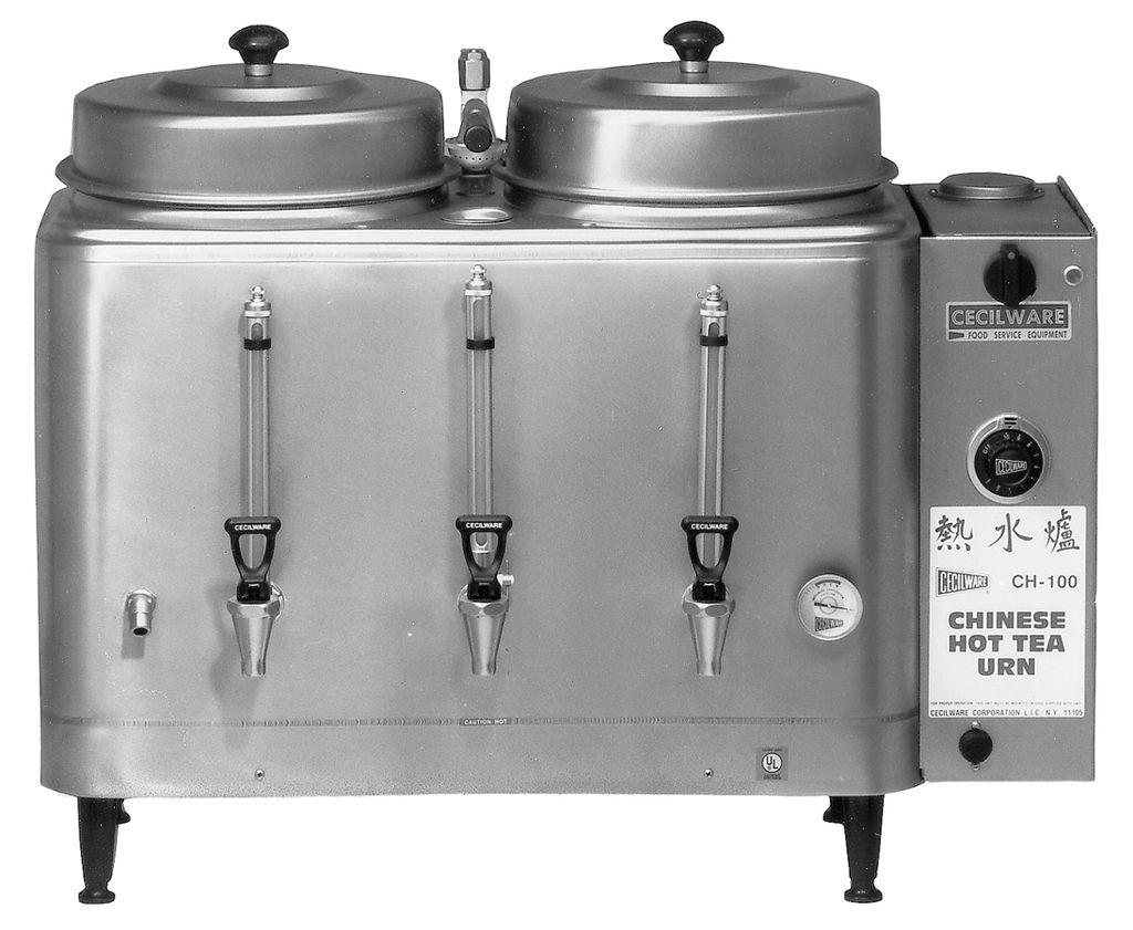 Cecilware CH100N Twin 3 Gallon Chinese Hot Tea Urn 240 Volt