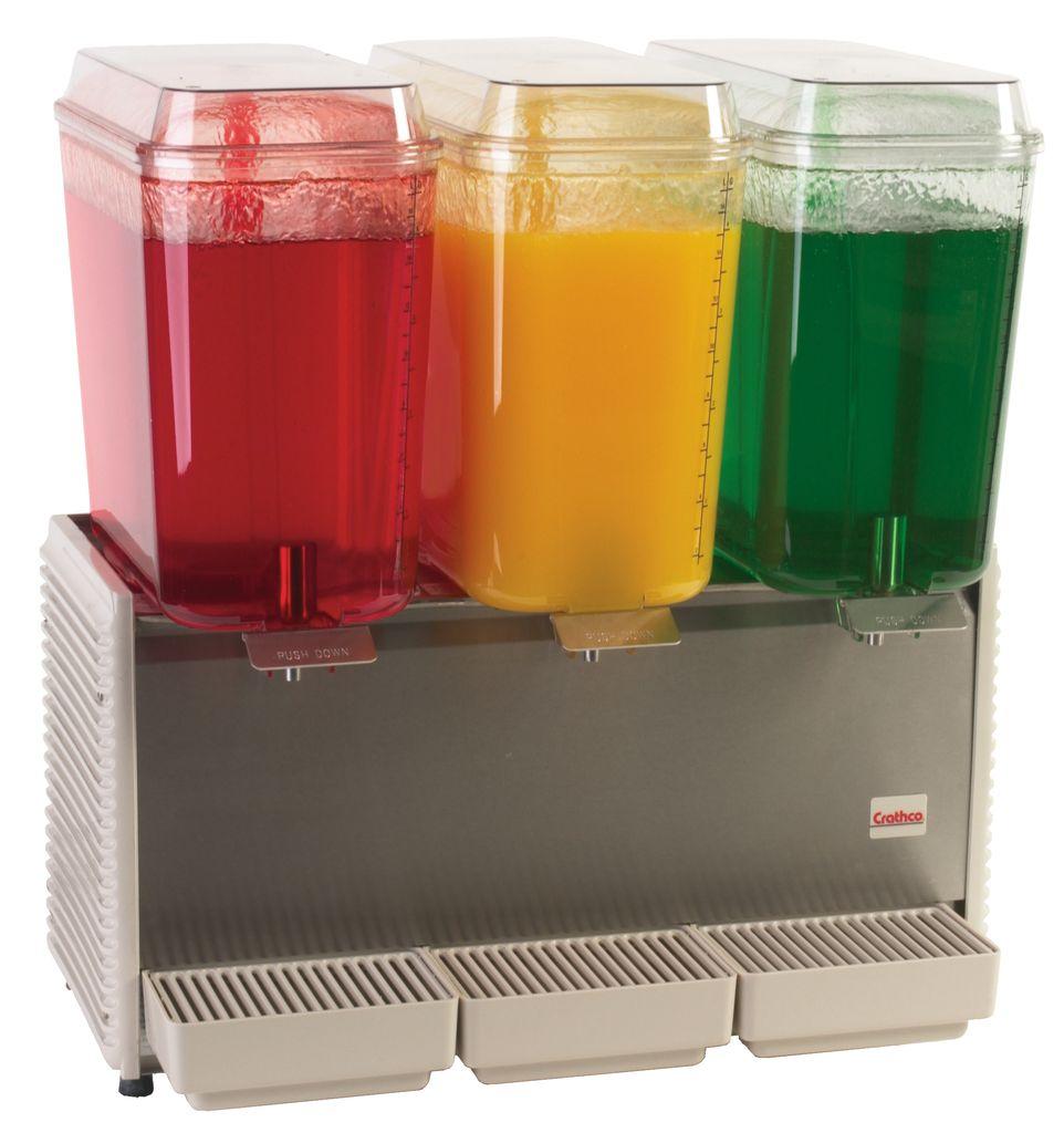Crathco D35-4 Classic Bubbler Three Bowl Premix Cold Beverage Dispenser