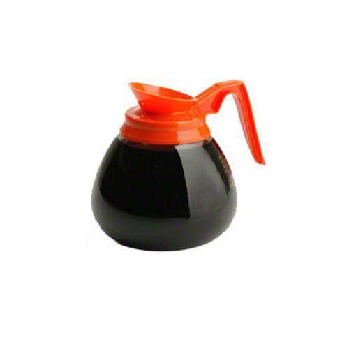 Bloomfield Glass Decanter, Orange Handle, No Logo, Case Of 24