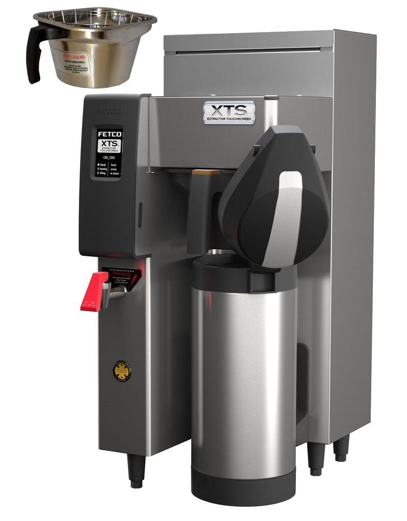 Fetco CBS-2131-XTS Coffee Brewer, Metal Brew Basket, 1.7 kW Heater, 120 Volt Or 120/240 Volt