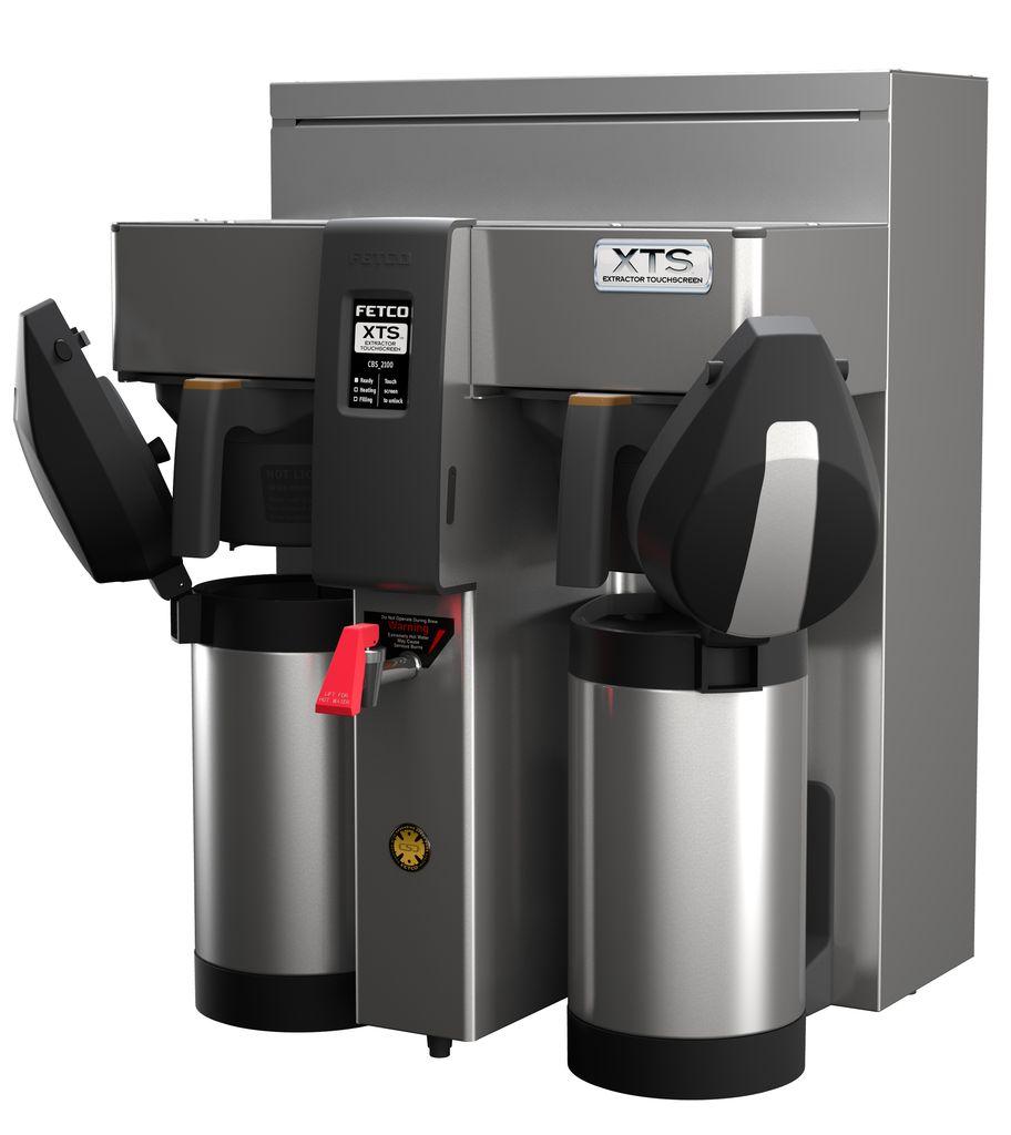Fetco CBS-2132-XTS Twin Coffee Brewer, Plastic Brew Baskets, 3.0 kW Heaters