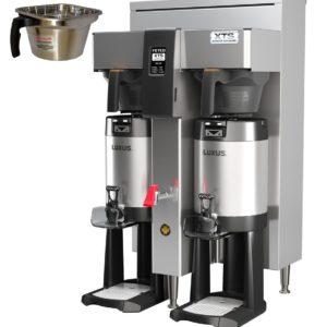 Fetco CBS-2142-XTS Twin Coffee Brewer, Metal Brew Baskets, 3.0 kW Heaters