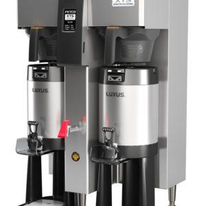 Fetco CBS-2142-XTS Twin Coffee Brewer, Plastic Brew Baskets, 3.0 kW Heaters