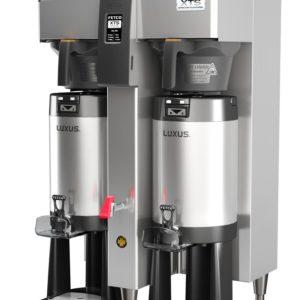 Fetco CBS-2152-XTS-2G Twin Coffee Brewer, Plastic Brew Baskets, 3.0 kW Heaters