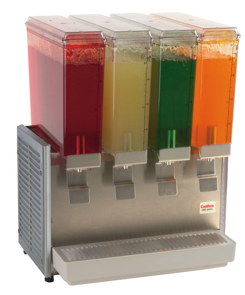 Crathco E49-3 Classic Bubbler Four Mini-Bowl Premix Cold Beverage Dispenser