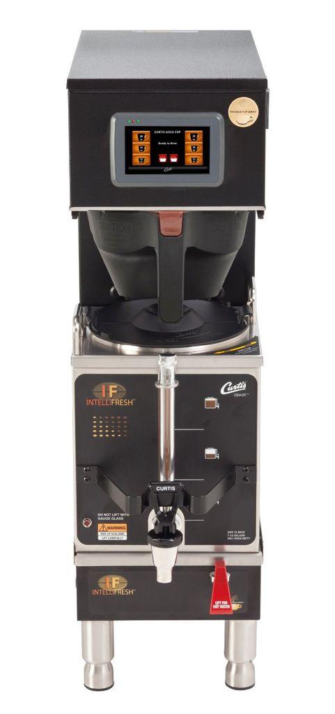 Curtis G4 Gemini IntelliFresh 1.5 Gallon Satellite Coffee Brewer, Black, Dual Voltage