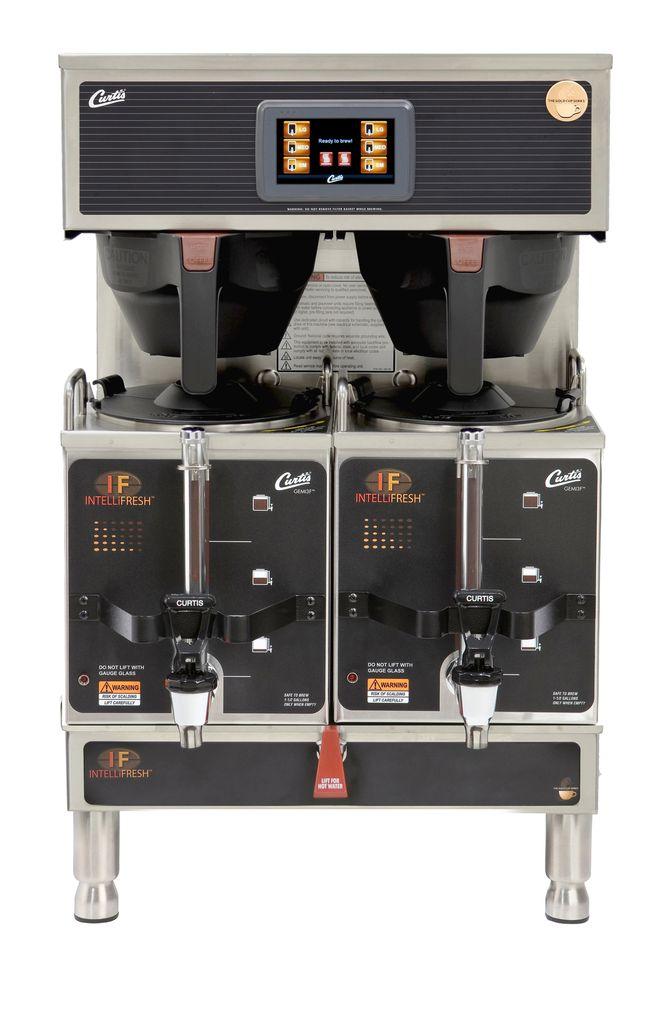 Curtis G4 Gemini IntelliFresh Twin 1.5 Gallon Satellite Coffee Brewer, 220 Volt