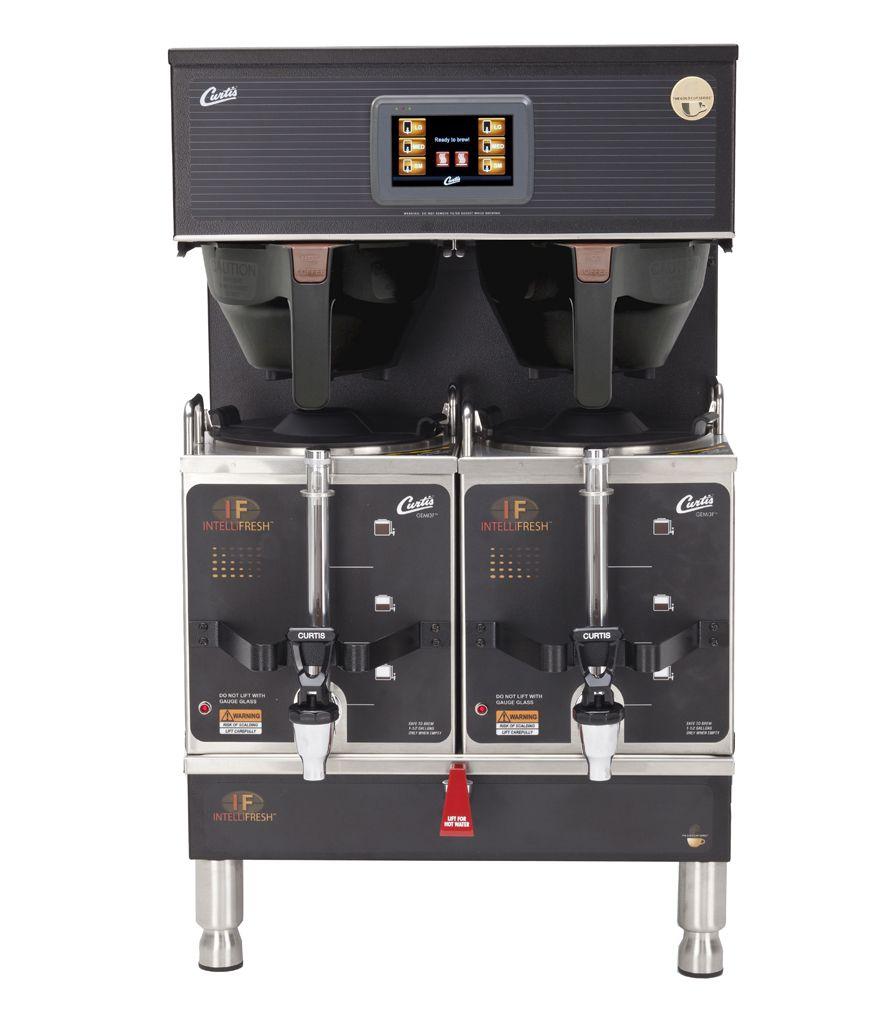 Curtis G4 Gemini IntelliFresh Twin 1.5 Gallon Satellite Coffee Brewer, Black, 220 Volt