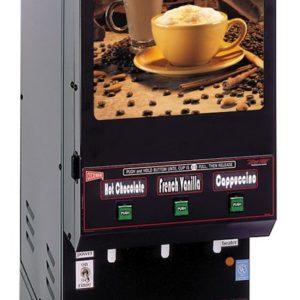 Cecilware GB3M5.5-LD Three Flavor Hot Powdered Cappuccino Dispenser