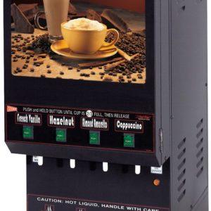 Cecilware GB4M5.5-LD Four Flavor Hot Powdered Cappuccino Dispenser