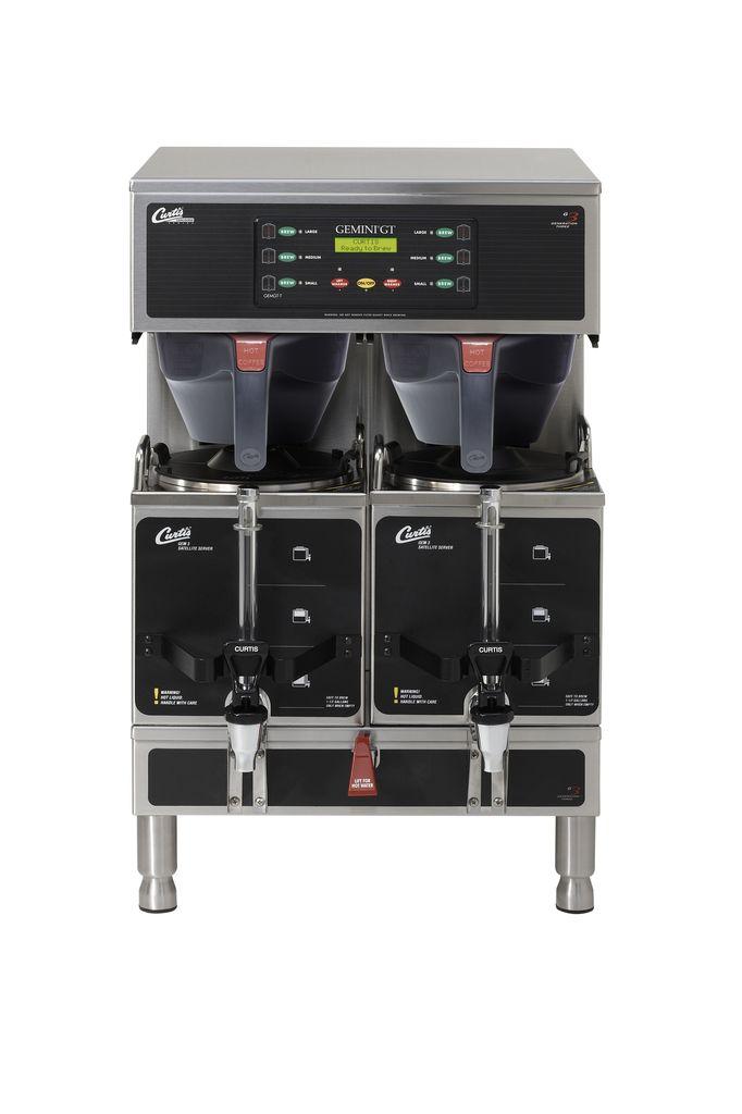 Curtis G3 Gemini Twin 1.5 Gallon Satellite Coffee Brewer, 3 Phase 4 Wire + Ground
