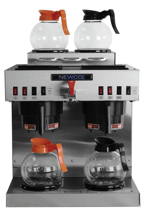 Newco GKDF-4 Dual Modular Decanter / Satellite Coffee Brewer 2 Lower, 2 Upper Warmers