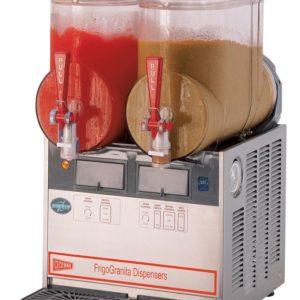 Cecilware FrigoGranita MT2UL Two Bowl Frozen Beverage Dispenser, Stainless Steel