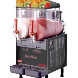 Cecilware FrigoGranita MT2ULAF Two Bowl Frozen Beverage Dispenser, AutoFill Ready, Black