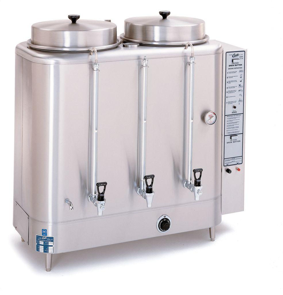 Curtis Twin 10 Gallon Urn Coffee Brewer, 208/220 Volt