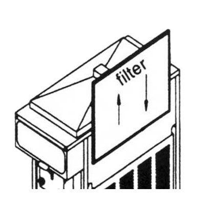 Crathco Concealed Filter Kit For Barrel Freezer Frozen Beverage Dispensers, Black